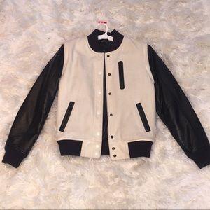 NIKE Destroyer Leather & Wool Varsity Jacket